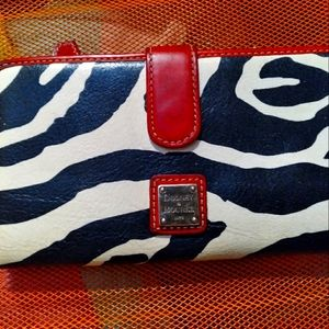 Zebra print D & B wallet